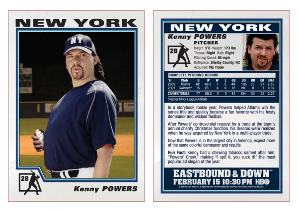 Best Ever Kenny Powers Baseball Cards